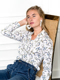 Womens Cream/Blue Multi The Signature Shirt in Blue Garlands 2