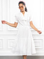 Womens Cream Eyelet The Camelot Dress