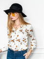 Womens Cream/Taupe/Black The Signature Shirt in Animal