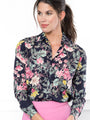 Womens Dark Floral/Pink The Signature Shirt in Dark Floral/Pink 2