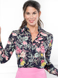Womens Dark Floral/Pink The Signature Shirt in Dark Floral/Pink 4