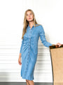 Womens Denim The Ruched Shirtdress 2