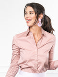 Womens Dusky Rose The Essentials Icon Shirt 4