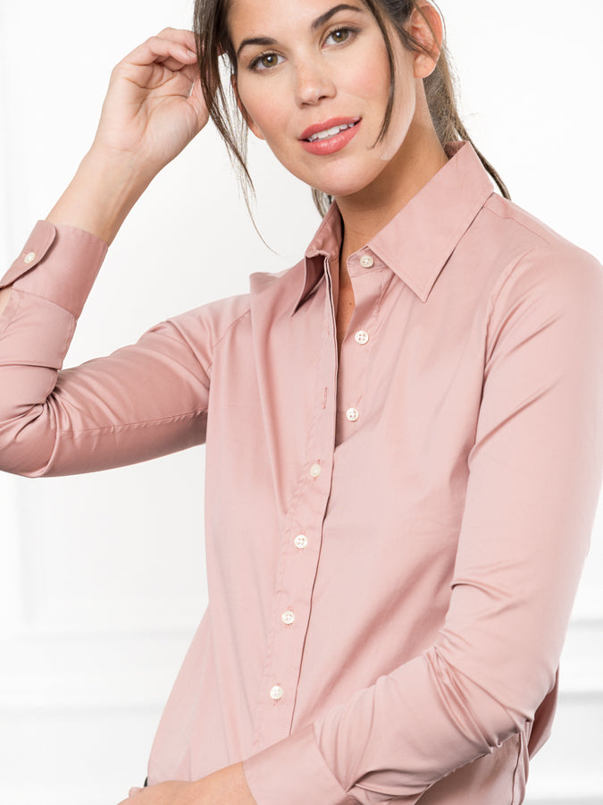 Womens Dusky Rose The Essentials Icon Shirt