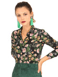 Womens Floral Print The Signature Shirt in November Rain 4