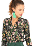 Womens Floral Print The Signature Shirt in November Rain 6
