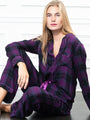 Womens Fuchsia/Navy Plaid The Long Sleeve Pajama Set