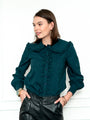 Womens Green/Blue Check The Josephine Shirt