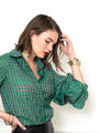 Womens Green Check The Seville Shirt 2