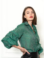 Womens Green Check The Seville Shirt