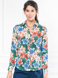 Womens Green Floral Watercolor The Signature Shirt in Green Floral Watercolor 6