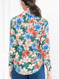 Womens Green Floral Watercolor The Signature Shirt in Green Floral Watercolor 7