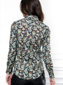 Womens Green Paisley The Icon Shirt in Green Paisley 2