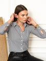 Womens Gunmetal/White The Icon Shirt in Stripe