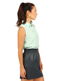 Womens Ice Green The Signature Sleeveless Shirt 2