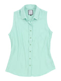 Womens Ice Green The Signature Sleeveless Shirt 4