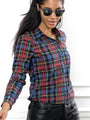 Womens Large Red Tartan The Icon Shirt in Large Red Tartan 2