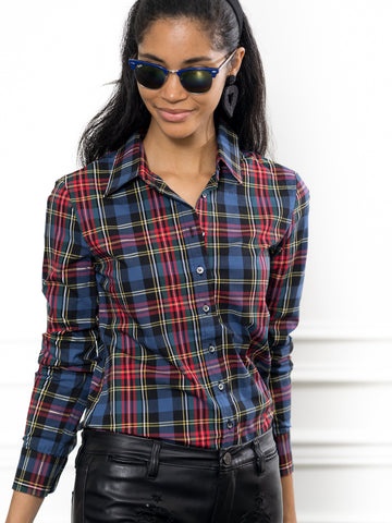 Womens Large Red Tartan The Icon Shirt in Large Red Tartan