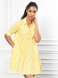 Womens Lemon The Jules Dress in Short Sleeve