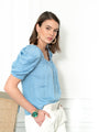 Womens Light Blue The French Girl Shirt 2