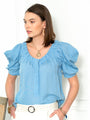 Womens Light Blue The French Girl Shirt