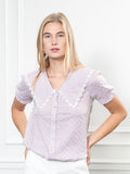 Womens Lilac Gingham The Lauren Shirt 4