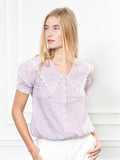 Womens Lilac Gingham The Lauren Shirt 6