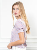 Womens Lilac Gingham The Lauren Shirt 7