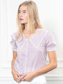 Womens Lilac Gingham The Lauren Shirt