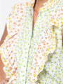 Womens Lime/Lemon THE AERIN SHIRT 2