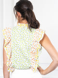 Womens Lime/Lemon THE AERIN SHIRT 4