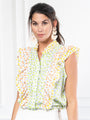 Womens Lime/Lemon THE AERIN SHIRT