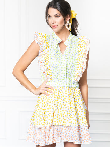 Womens Lime/Lemon THE STELLA DRESS