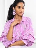 Womens Magenta Stripe The Seville Shirt 2
