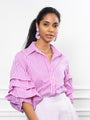 Womens Magenta Stripe The Seville Shirt