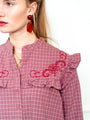 Womens Mauve The Trapeze Shirt w/ Embroidery 2