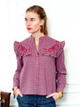 Womens Mauve The Trapeze Shirt w/ Embroidery