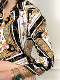 Womens Medallion Print The Signature Shirt in Italian Scarf Print 2