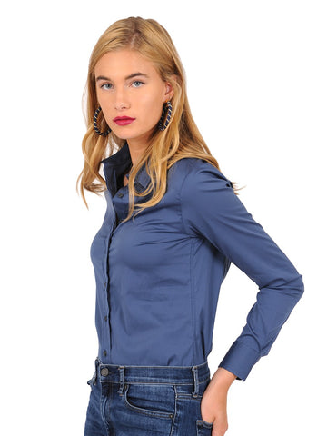 Womens Midway Blue The Essentials Icon Shirt 2