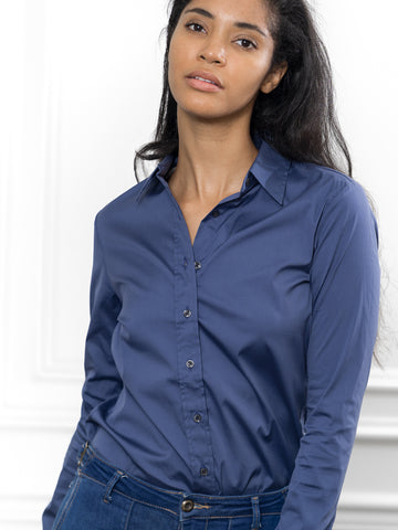 Womens Midway Blue The Essentials Icon Shirt