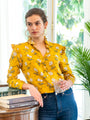 Womens Mustard Blossom The Ruffle Collar Shirt 2