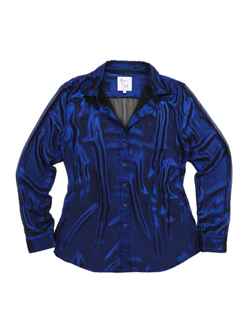 Womens Navy Metallic The Signature Shirt