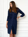 Womens Navy The Ruched Shirtdress