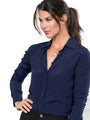 Womens Navy The Signature Shirt