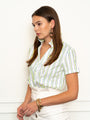 Womens Neon/White THE SHORT SLEEVE SHIRT WITH LOOSE BACK