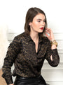 Womens Olive Leopard The Signature Shirt in Olive Leopard