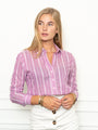 Womens Orchid/White The Icon Shirt in Orchid Stripe