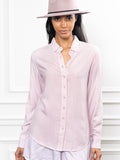Womens Pastel Pink The Washed Denim Shirt 4
