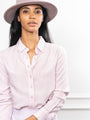 Womens Pastel Pink The Washed Denim Shirt