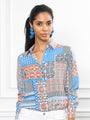 Womens Patchwork The Signature Shirt in Patchwork